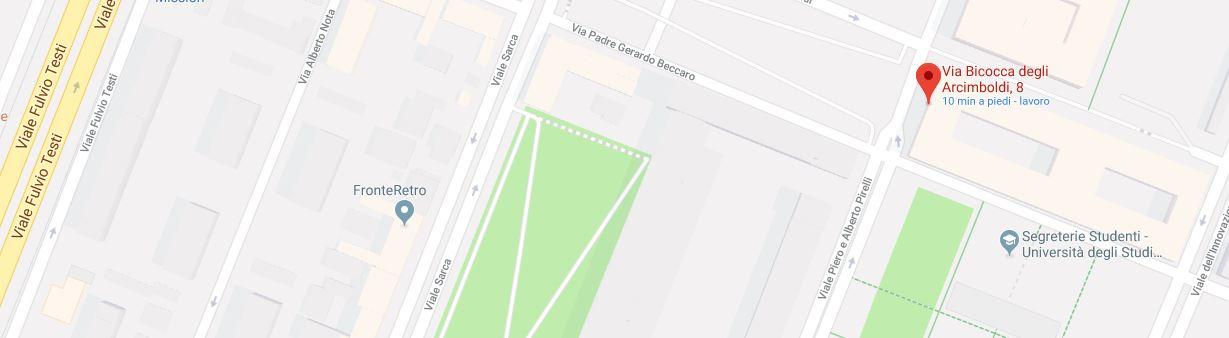 Mappa delle strade circostanti al dipartimento